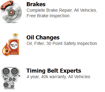 Brakes, Oil Changes, Timing Belt Experts
